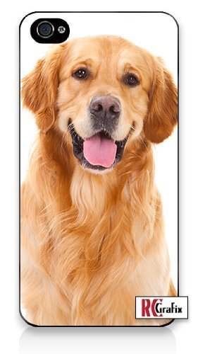 Premium Direct Print Happy Panting Golden Retriever Dog iphone 6 Quality Hard Snap On Case for iphone 6/Apple iphone 6 - AT&T Sprint Verizon - White Case PLUS Bonus RCGRafix The Best Iphone Business Productivity Apps Review Guide