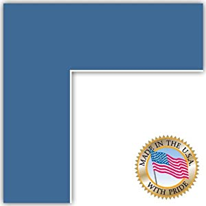23x29 Liberty Blue Custom Mat for Picture Frame with 19x25 opening size