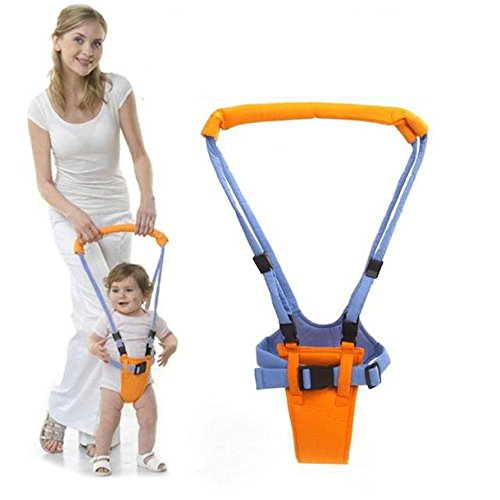 Fashion Month Baby Moon Walk Walker Harness Bouncer Jumper Toddler Infant kid Help Learn Teach Assistant Safety Orange and Blue