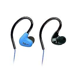 Amkette Pulse S6 691BL Headphones with Mic (Blue)