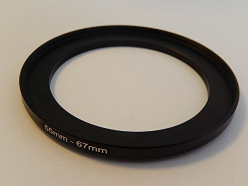 vhbw Step UP Filter-Adapter 55mm-67mm schwarz für Kamera Panasonic, Pentax, Ricoh, Samsung, Sigma, Sony, Tamron