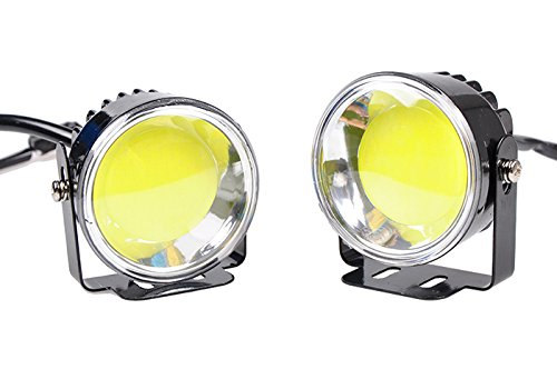 Suparee 12/24V Cob Led Car Drl Lights High Power Auxiliary Light Driving Daytime Running Lights
