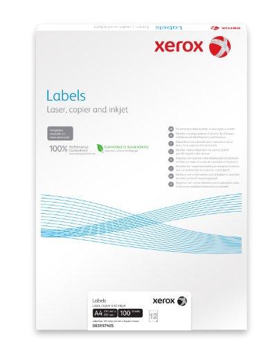XErox 003R97402 étiquettes 105 x 148 mm boîte de 100 feuilles a4 = 400 étiquettes à coins arrondis-couleur: blanc