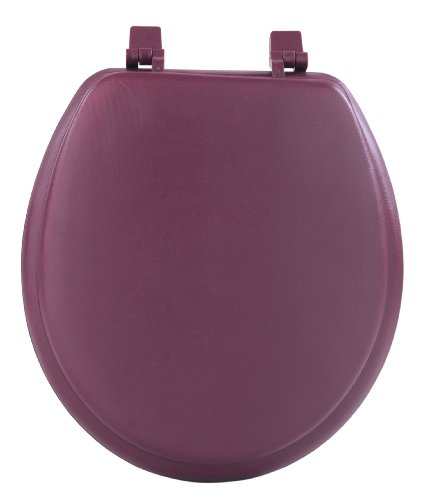 Achim Home Furnishings Tovystbu04 17-Inch Fantasia Standard Toilet Seat, Soft Burgundy