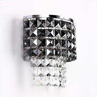 Table en cristal clair, une lumiššre, peinture de fer Creative
