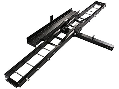 TMS T-NS-MRC001 500-Pound Heavy Duty Motorcycle Dirt Bike Scooter Carrier Hitch Rack Hauler Trailer with Loading Ramp and Anti-Tilt Locking Device (Motorcycle Trailer compare prices)