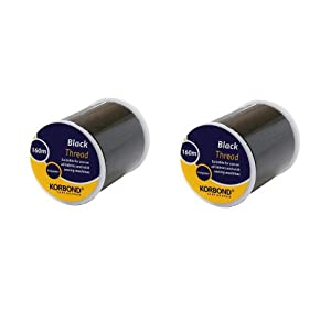 Korbond 2 x 160 m Thread, Black from Korbond