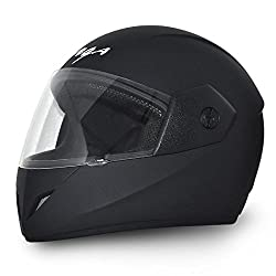 Vega Cliff DX Full Face Helmet (Dull Black, M)
