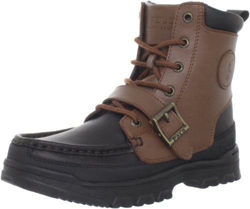 Polo by Ralph Lauren Camp Lace-Up Boot (Toddler/Little Kid/Big Kid),Tan/Chocolate,2 M US Little Kid
