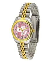 Gonzaga University Bulldogs Ladies Gold Dress Watch With Crystals