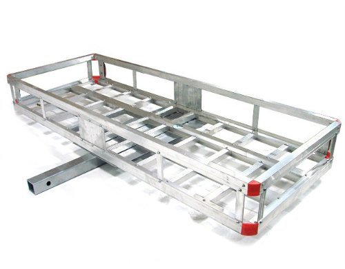 TMS ALUM-CCR-2260A 60-Inch by 20-Inch RV Hitch Mount Cargo Luggage Carrier Generator, Aluminum