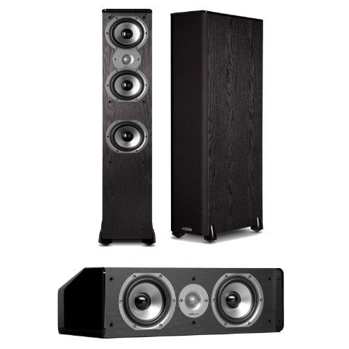 Polk Audio Tsi 400 Floorstanding Speaker (Pair) Plus A Polk Audio Cs10 Center Channel Speaker