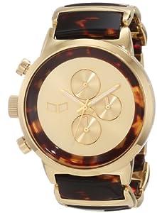 Vestal Unisex METCA04 Metronome Gold with Tortoise Acetate Chronograph Watch