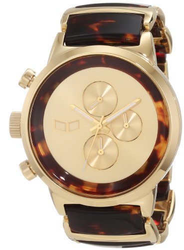 Vestal Unisex METCA04 Metronome Gold with Tortoise Acetate Chronograph Watch