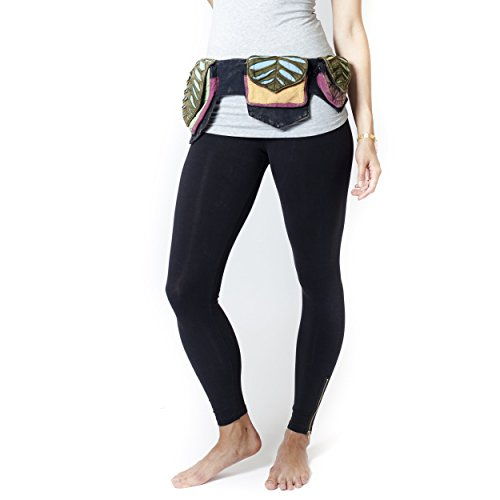 Pixie three pocket fanny pack Waist Belt Bag-Multi (Hippie Fanny Pack compare prices)