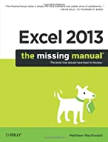 Excel 2013: The Missing Manual Front Cover