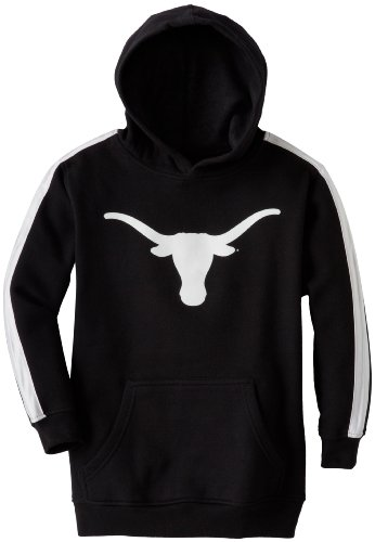 NCAA Texas Longhorns Boys 8-20 Team Logo Hooded Fleece Sweatshirt, Black, Large at Amazon.com