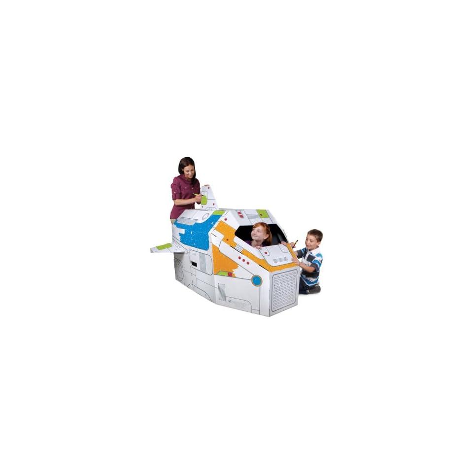 Cardboard Rocket Ship Toy Gift Idea Birthday