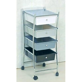 Pas cher meuble chrom sur roulettes 4 tiroirs 1 for Ou acheter meuble salle de bain pas cher