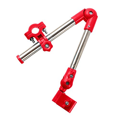 ZhiDa Umbrella Holder for Stroller,Pushchair,Wheel Chair,Bicycle Mount Pram Swivel Umbrella Connector Folding Umbrella Frame Stand Handle (Red) (Electric Umbrella compare prices)