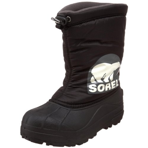 Sorel Snow Commander 1824 - Winter Boot (Little Kid/Big Kid),Black/Grill,3 M US Little Kid