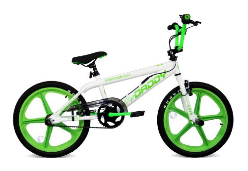Skyway BMX Bikes http://www.bikebestbuy.co.uk/Rooster-Big-Daddy-White-BMX-Bike-with-Green-Skyway-Mags