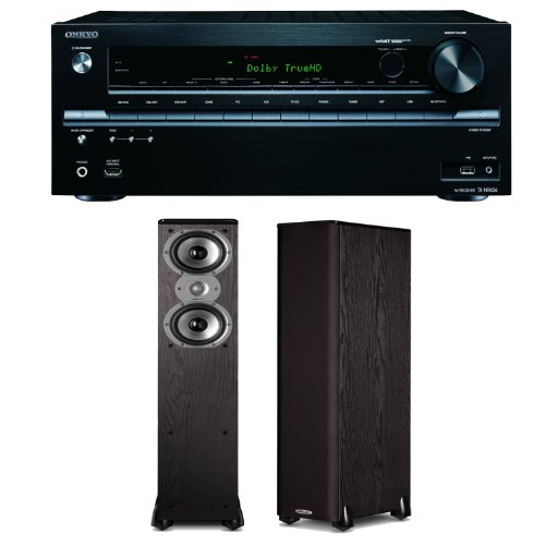 Onkyo Tx-Nr636 7.2-Channel Network A/V Receiver Plus A Pair Of Polk Audio Tsi 300 Floorstanding Speakers