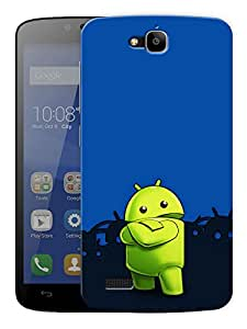 """Android Cartoon Printed Designer Mobile Back Cover For """"Huawei Honor Holly"""" By Humor Gang (3D, Matte Finish, Premium Quality, Protective Snap On Slim Hard Phone Case, Multi Color)"""