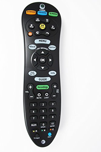 Genuine AT&T U-Verse Uverse S20-S1A Programmable IR Universal Remote Control Compatible Part Numbers: CY-RC1055-AT (Att Universal Remote compare prices)