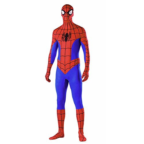 Glantop Spiderman Costume Fancy Dress Outfit Adult Full Body Stretch Bodysuit