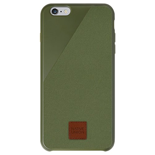 Native Union CLIC 360 Case for iPhone 6 Plus, iPhone 6s Plus - Military Grade Drop-Proof Protective Cover Made with British Waxed Canvas - Moss Green (Iphone 6 Plus Case British compare prices)