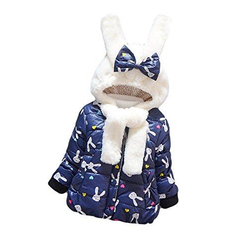 Little Hand® Invernale Bambina Outwear Maniche Lunghe Cappotto Giacca Inverno Caldo Giubbotto 0-3 Anni