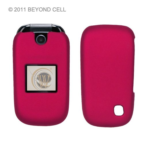 Beyond Cell ®ZTE Z221 (AT&T,International) Premium Protection Slim Light Weight 2 piece Snap On Non-Slip Matte Hard Shell Rubber Coated Rubberized Phone Case - Rose Pink - Retail Packaging