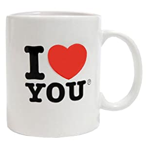 Paladone I Heart You Mug I Love You Valentines Coffee Tea Cup Valentines Day Gift Present