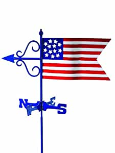 Good Directions 836R American Flag Garden Weathervane with Roof Mount