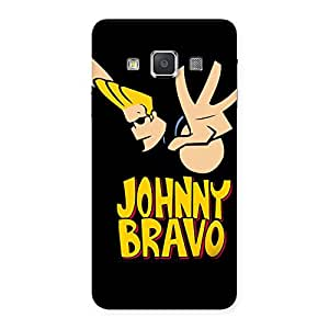 Brave Black Back Case Cover for Galaxy A3