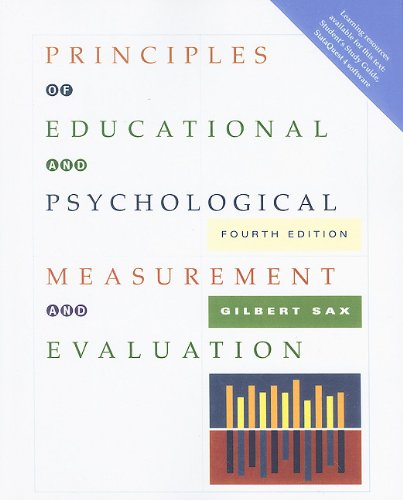 Principles of Educational and Psychological Measurement...