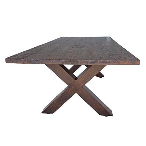 gartentisch aus metall 200x100 cm holz optik tisch 104 kg x gestell aluminium. Black Bedroom Furniture Sets. Home Design Ideas