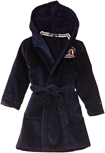 Tommy Hilfiger Jungen Bademantel Tess Toweling Bathrobe, Gr. 104, Blau (Peacoat)