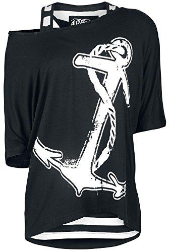 Vixxsin - Canotta -  donna Schwarz/Weiß XL