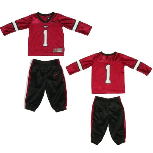 NCAA Arkansas Razorbacks #1 Infant Top and Pants Set 12Months Wine Red & Black at Amazon.com