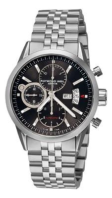 Raymond Weil Men's 7730-ST-20001 Freelancer Black Chronograph Dial Watch from Raymond Weil