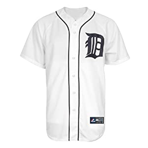MLB Detroit Tigers Justin Verlander White Home Replica Baseball Jersey, White, X-Large