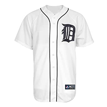 MLB Detroit Tigers Justin Verlander White Home Replica Baseball Jersey, White by Majestic