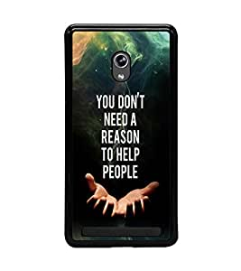 PRINTVISA Quotes Case Cover for Asus Zenfone 6::Asus Zenfone 6 A600CG
