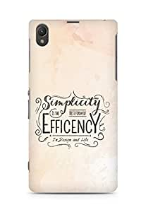 Amez Simplicity is the best form of Efficency Back Cover For Sony Xperia Z1 C6902