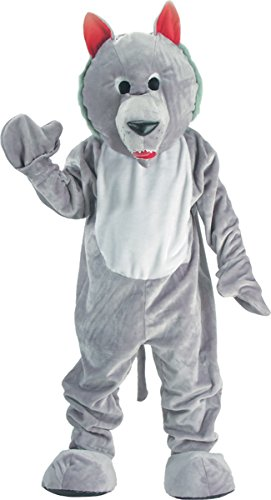 Costumes For All Occasions UP301 Wolf Mascot Grey Adult One Sz.