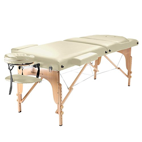 Saloniture professional portable massage table with backrest cream health beauty personal care - Massage table professional ...