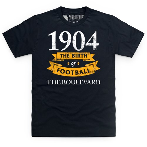 Hull City - Birth of Football T Shirt, Mens, Black, Medium