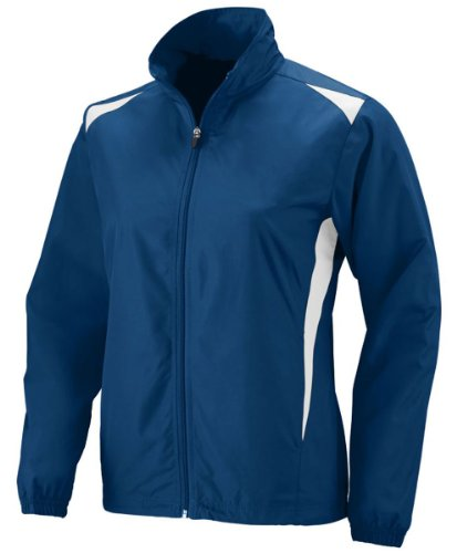 Augusta Sportswear Women'S Long Sleeve Taffeta Jacket, Navy/ White, Small